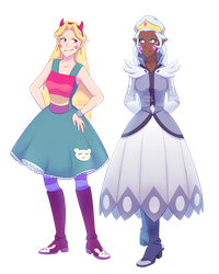 Star And Moon of VLD by YurikoSchneide
