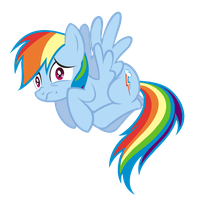Scared Rainbow Dash Vector by saturtron