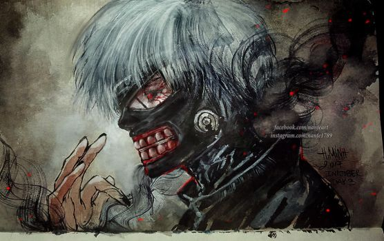 Inktober Day 3: Kaneki by NanFe