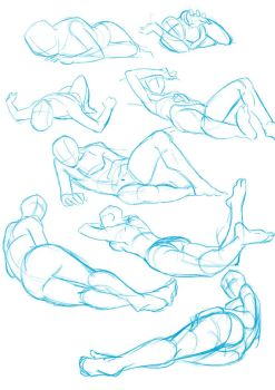 some lying poses by xong