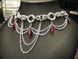 red drop mobius byz necklace with drapes by BacktoEarthCreations