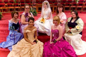 Princess Bridal Party by Malindachan