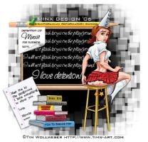 Naughty School Girl by MinxDesigns