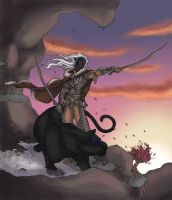 Drizzt at dawn by ladymayev