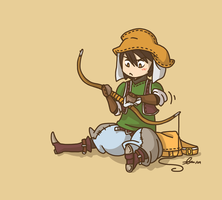 FFTA2 - Hunter Chibi by Malliya