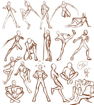 Male Poses by Lunallidoodles