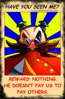 Eggman Wanted poster by miitoons