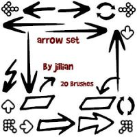 Photoshop Brush Set - Arrows by jillian79