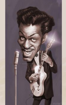 Chuck Berry Caricature by AZendron