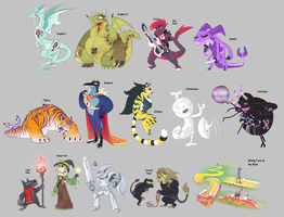 Sponsored Adopts 5 - cagedcreature by blinkpen