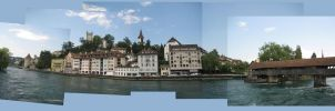 Old and New - Lucerne, CH by DanielleDucrest