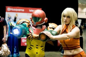 Samus and Samus Double Blast by d-slim