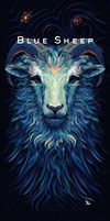 Blue Sheep - T-Shirt Design for MrSuicideSheep by SylviaRitter