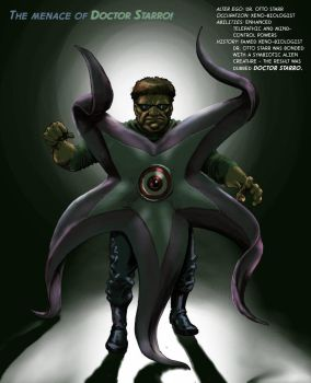 TLIID Supervillains combined Dr Octopus + Starro by Nick-Perks