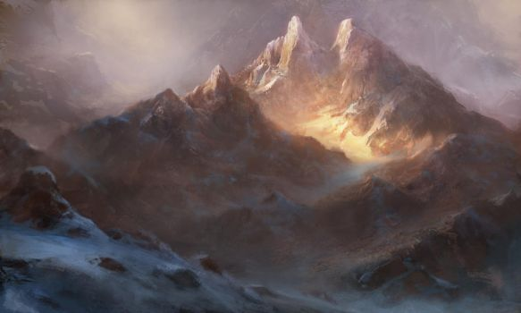 Golden Mountain by Grosnez