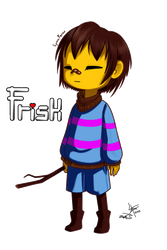 Undertale Frisk by LynaFerns