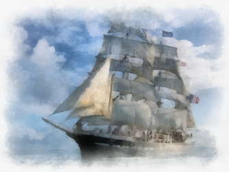 French Sailing Ship 4 by diverse-norm