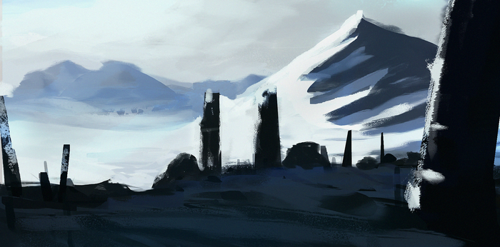 The Cold Pillars by MFFchaos