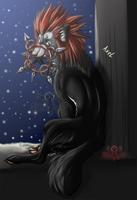 Axel and the snowy day by TheWolfsgirl90