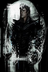 Christopher Lee as Morgoth by Mental-Lighton