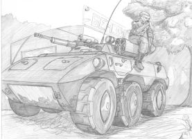 sketch Combat Reconnaissance/Patrol Vehicle by scorp106