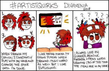 Artist Quirks 2018 by DivaXenia