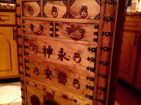 Dark Bronze Armored Asian Inspired Tool Chest by MauruCat