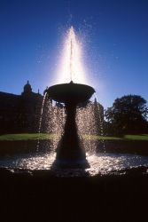 Backlit Fountain by siguy