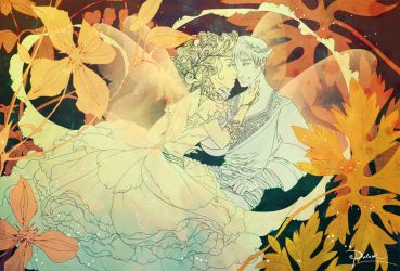 Thumbelina and Flower Prince by palnk
