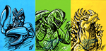 G-Fest 2015 Goodies pt 3 - Colored Sketch Cards by AlmightyRayzilla