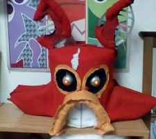 Nightmare Foxy Mask WIP by ghxstlly