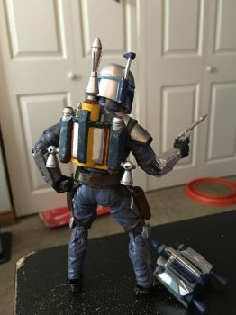 Star Wars Black Series Jango Fett Jetpack back by ToaAntan