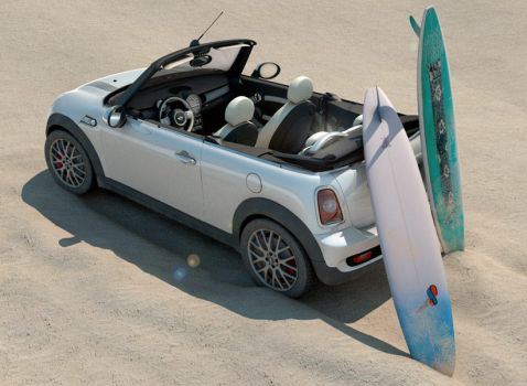 Mini Cooper S cabrio surfer by pablete