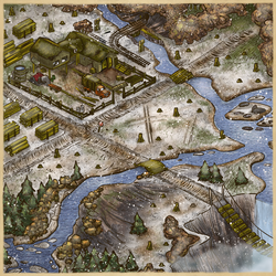 Post-Apoc Game Board - Cold Wetlands by DavyWagnarok