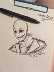 Mad Gaster Pen doodle by Saridim