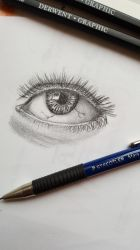 Eye pencil drawing by dorofo