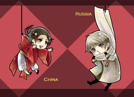 APH: Russia China charms by kagami222
