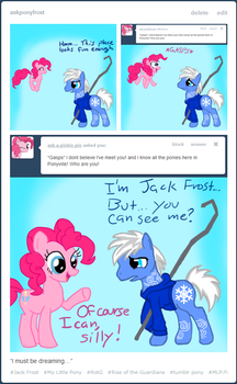 Pinkie Pie finds Jack Frost by SetoSora