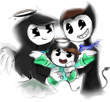 Happy family ^^ by JulieDraw2046