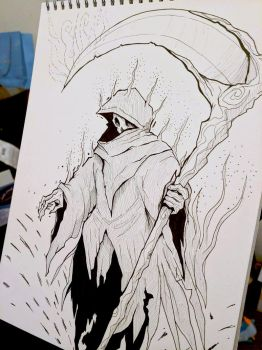 Inktober Day 13 - Grim Reaper by SarahRichford