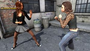 Alley Fight by demontroll