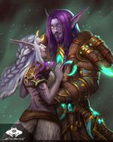 ...Commission: Night Elf Couple... by ShadowPriest