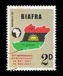 Biafra independence commemorative stamp by zmijugaloma