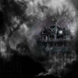 Haunted Graveyard House by mysticmorning