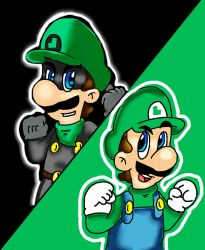 Mr Green Mario vs Green Mario by marioluigibroDX