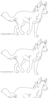 Free wolf lineart by kninety