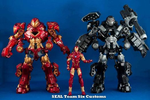 Iron Man and War Machine Mechs by TheProsFromDover