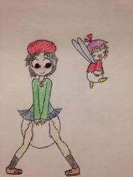 Adeleine and Ribbon by GreatLordG