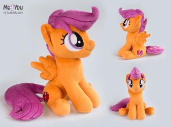 Scootaloo sitting plush by meplushyou