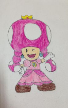 Toadette as Princess Peach by Prince5s
